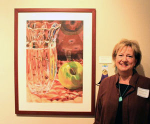 Artist Barbara Rogers at Tubac Center of the Arts