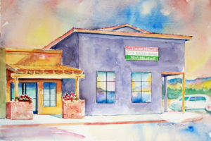 Italian Peasant Restaurant painting by Roberta Rogers