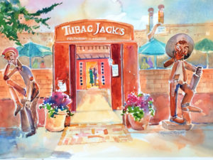 Tubac Jack's Restaurant painting by Roberta Rogers