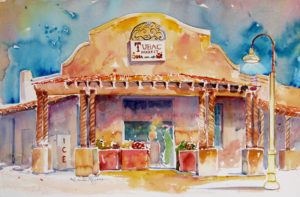 Tubac Market Painting by Roberta Rogers