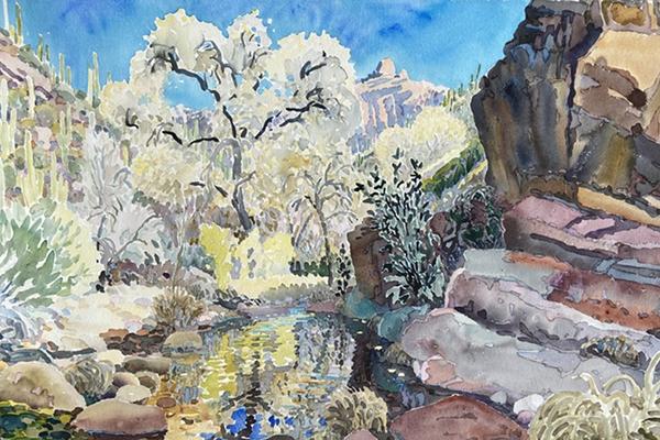 Barbara Borgwardt Watercolor painting